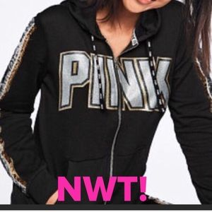 SALE💎NWT! PINK SEQUIN BLING PERFECT FULL-ZIP💎